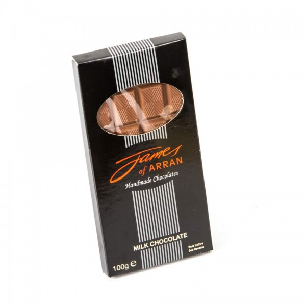 James Chocolates Luxury bar of Milk Chocolate