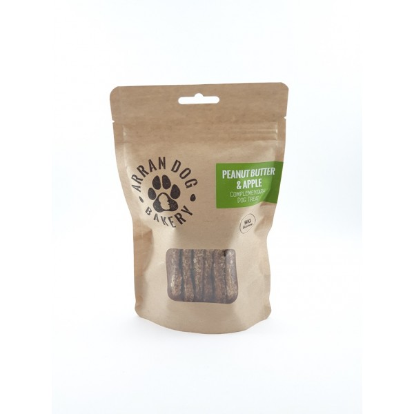 Handemade Arran Dog Biscuits - Peanut Butter & Apple 100g